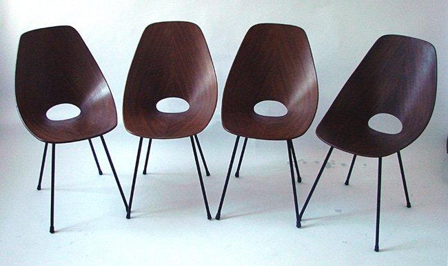 Four chairs Medea Vittorio Nobili, Tagliabue, 1955