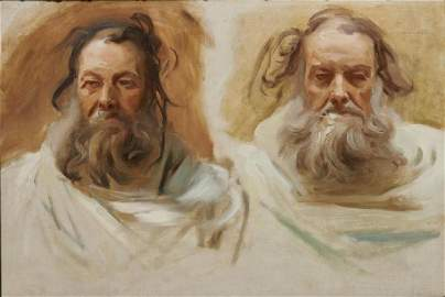 JOHN SINGER SARGENT, (American, 1856-1925), Two Heads