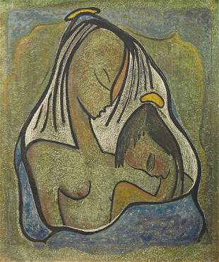 ANGEL BOTELLO, (Puerto Rican, 1913-1986), Mother and