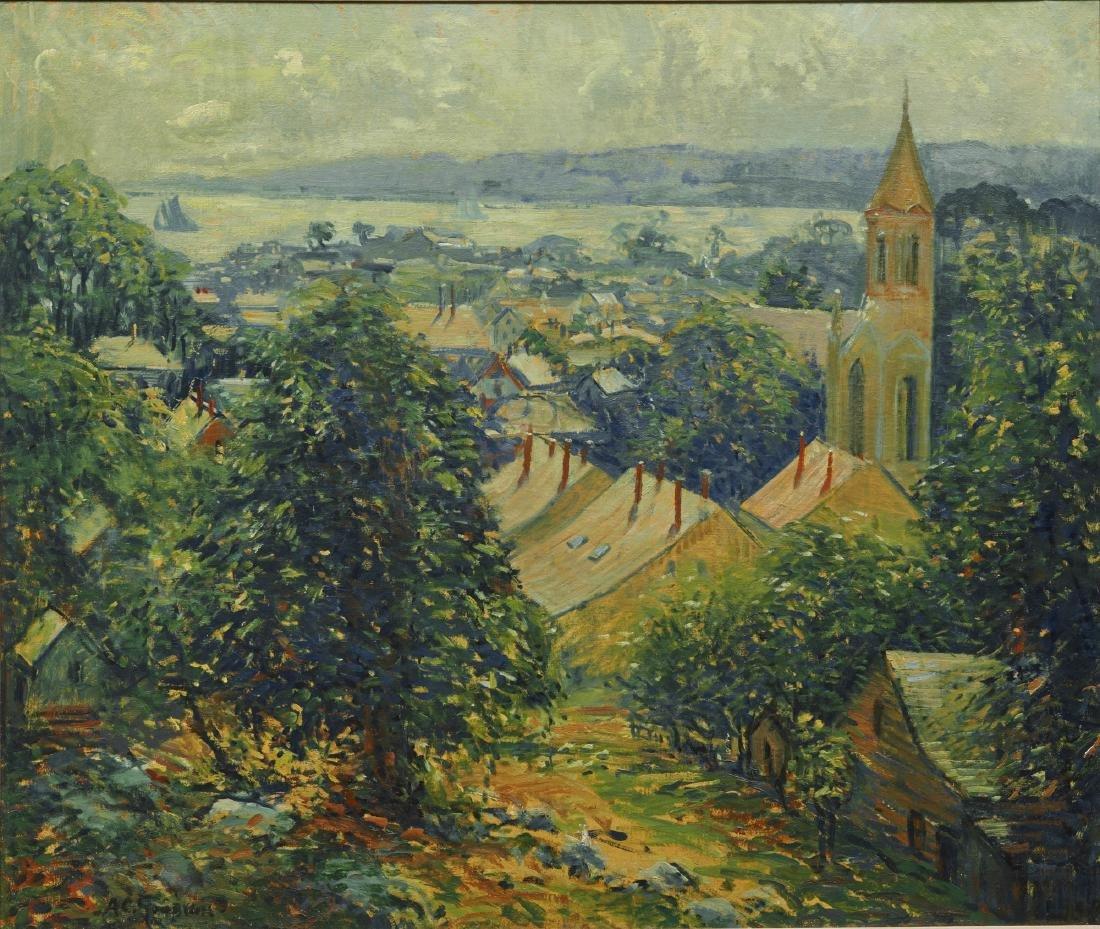 ARTHUR CLIFTON GOODWIN, (American, 1864-1929), Village