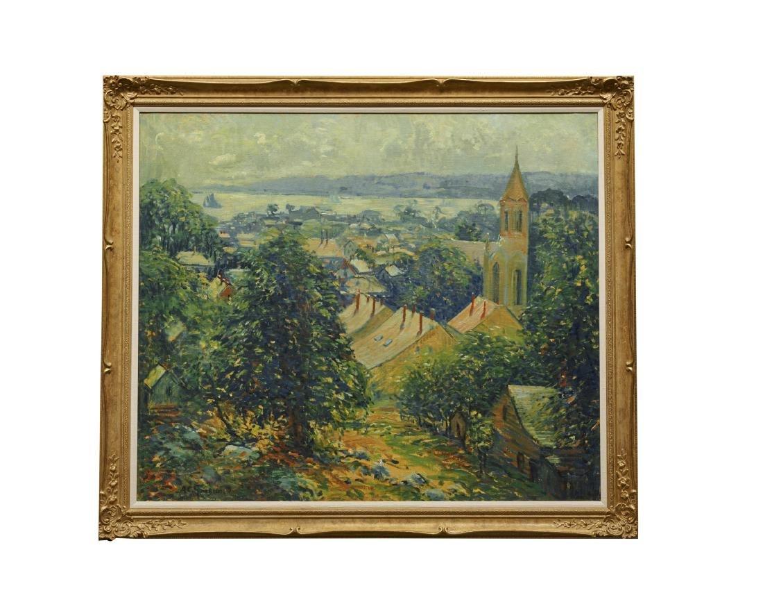 ARTHUR CLIFTON GOODWIN, (American, 1864-1929), Village - 2
