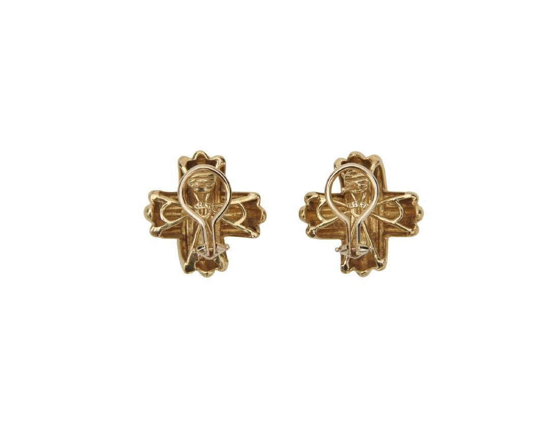 "TIFFANY & CO. 18K Gold ""X Collection"" Earrings - 2"