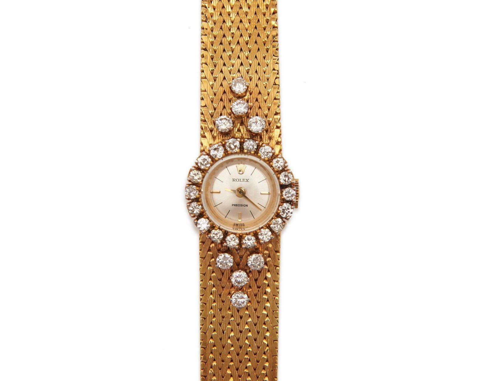 ROLEX 18K Gold and Diamond Wristwatch