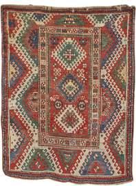 Borjalou Kazak Rug, Caucasus, late 19th century; 7 ft.