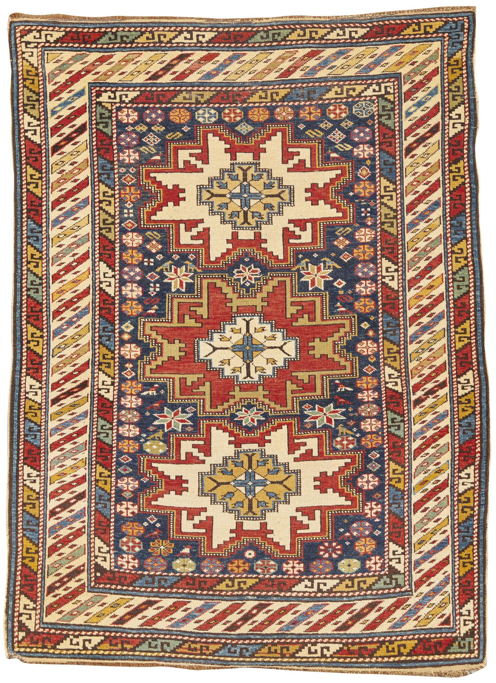Lesghi Rug, Caucasus, ca. 1900; 4 ft. 5 in. x 3 ft. 5