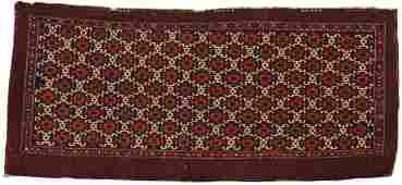 Rare Turkoman Eagle-Gul Torba, 19th century; 3 ft. 8
