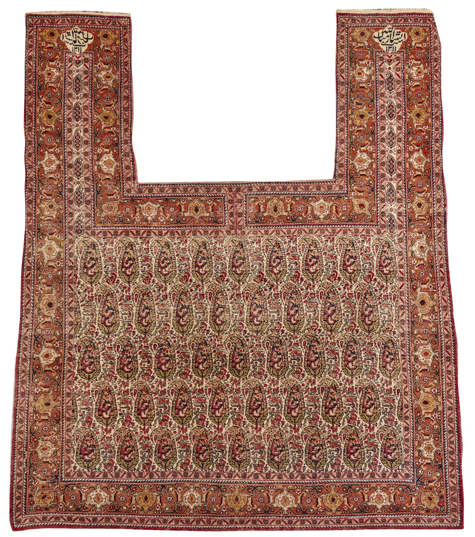 Kirman Horse Blanket, dated 1311 (1898), with