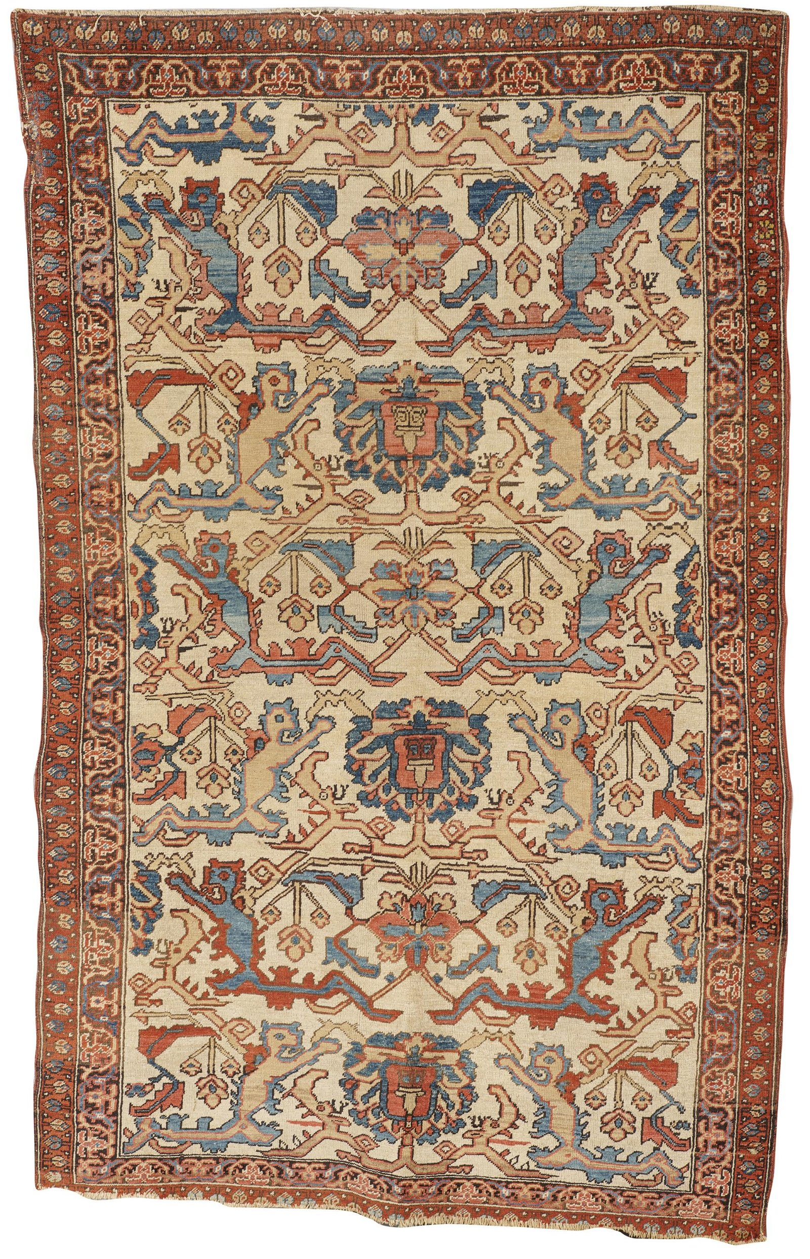Bakshaish Animal Rug, Persia, last quarter 19th century;