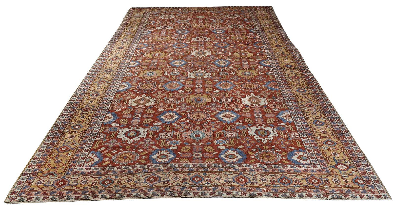 Heriz Carpet, Persia, ca. 1900; 21 ft. 11 in. x 11 ft.