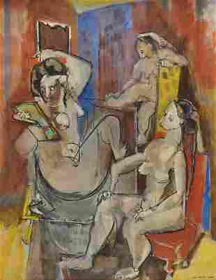 MAX WEBER, (American, 1881-1961), Beautification, 1942,