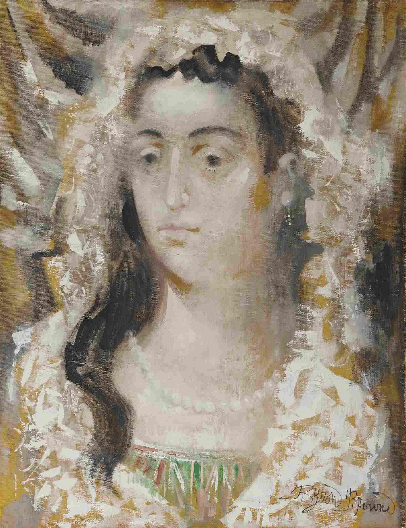 BYRON BROWNE, (American, 1907-1961), The Bride, 1960,