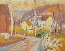 ALFRED RICHARD MITCHELL, (American, 1888-1972), Winter