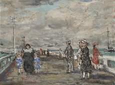 FRANCOIS GALL, (French, 1912-1987), Promenade at