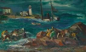 JON CORBINO, (American, 1905-1964), Shipwreck