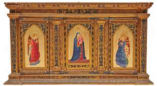 Grand Tour Old Master Style Triptych late 19th century