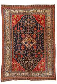 Fine and Rare Kashguli Rug, Persia, ca.1875; 5 ft. 8