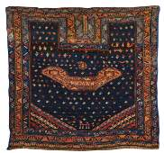 Persian Saddle Rug, ca. 1900; 3 ft. 3 in. x 3 ft. 3.5