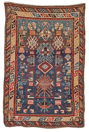 Caucasian Rug, last quarter 19th century; 5 ft. x 3 ft.