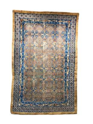 Chinese Silk and Metallic Thread Rug, ca. 1900; 8 ft. x