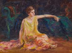 MARY LOUISE (LOW) FAIRCHILD, American 1858-1946, Seated