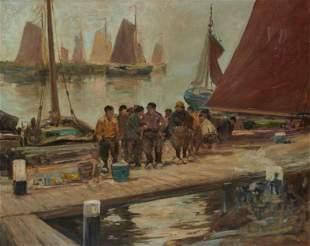 CHARLES PAUL GRUPPE, American 1860-1940, Fishermen at
