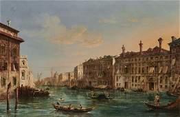 JANE VIVIAN, English fl.1869-1877, Grand Canal View