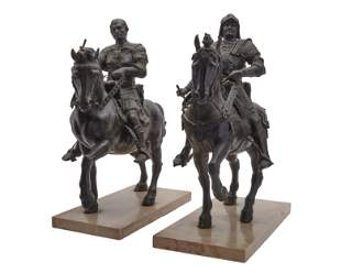 Pair of Grand Tour Equestrian Bronzes