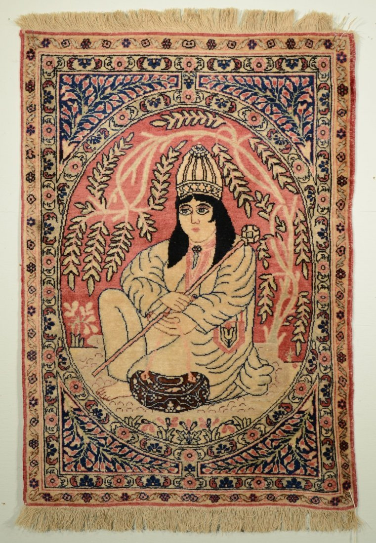 4: KIRMAN PICTORIAL RUG