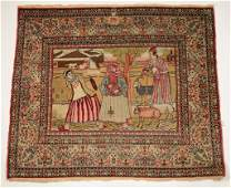 5 FINE KIRMAN PICTORIAL RUG