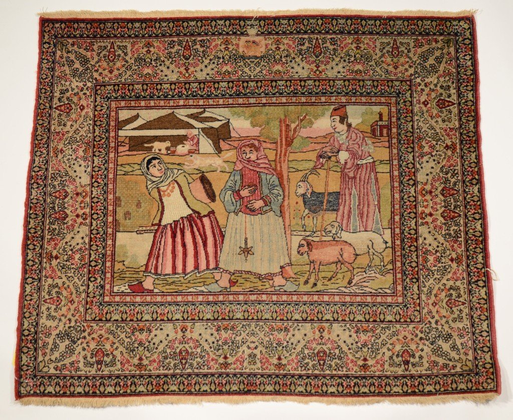 5: FINE KIRMAN PICTORIAL RUG