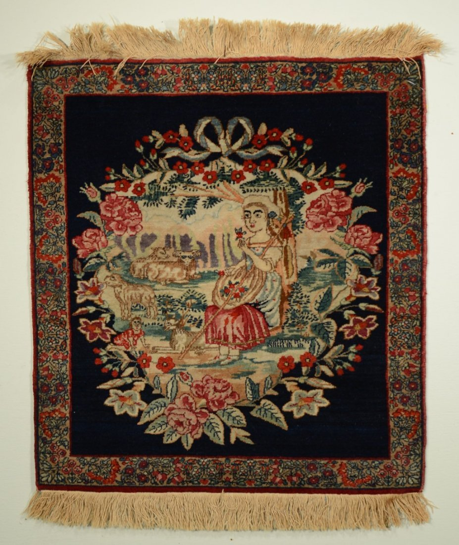 6: KIRMAN PICTORIAL RUG