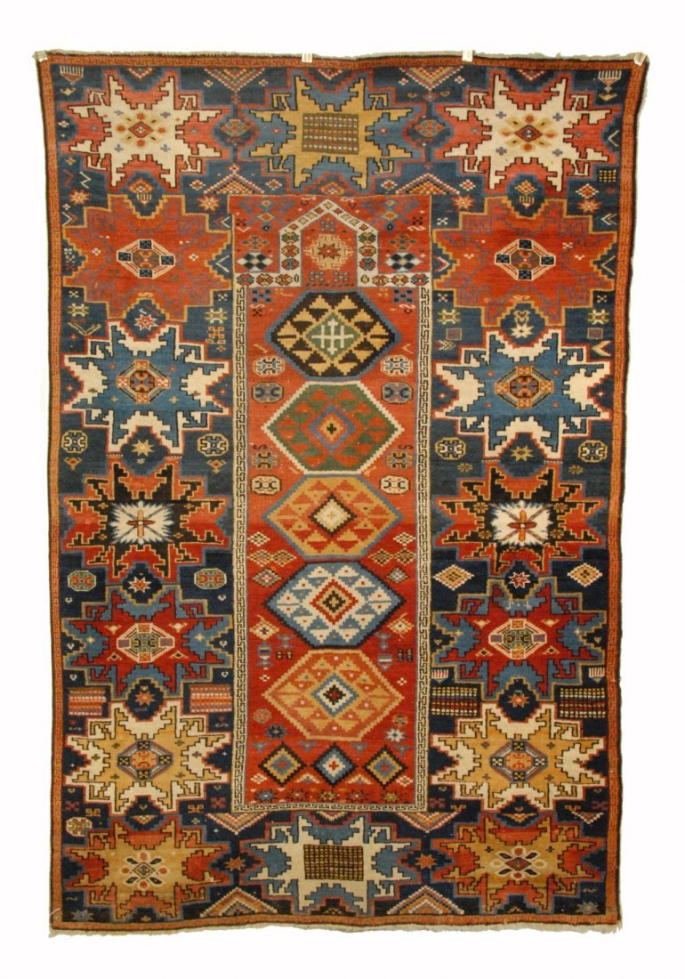 18: RARE LESGHI PRAYER RUG