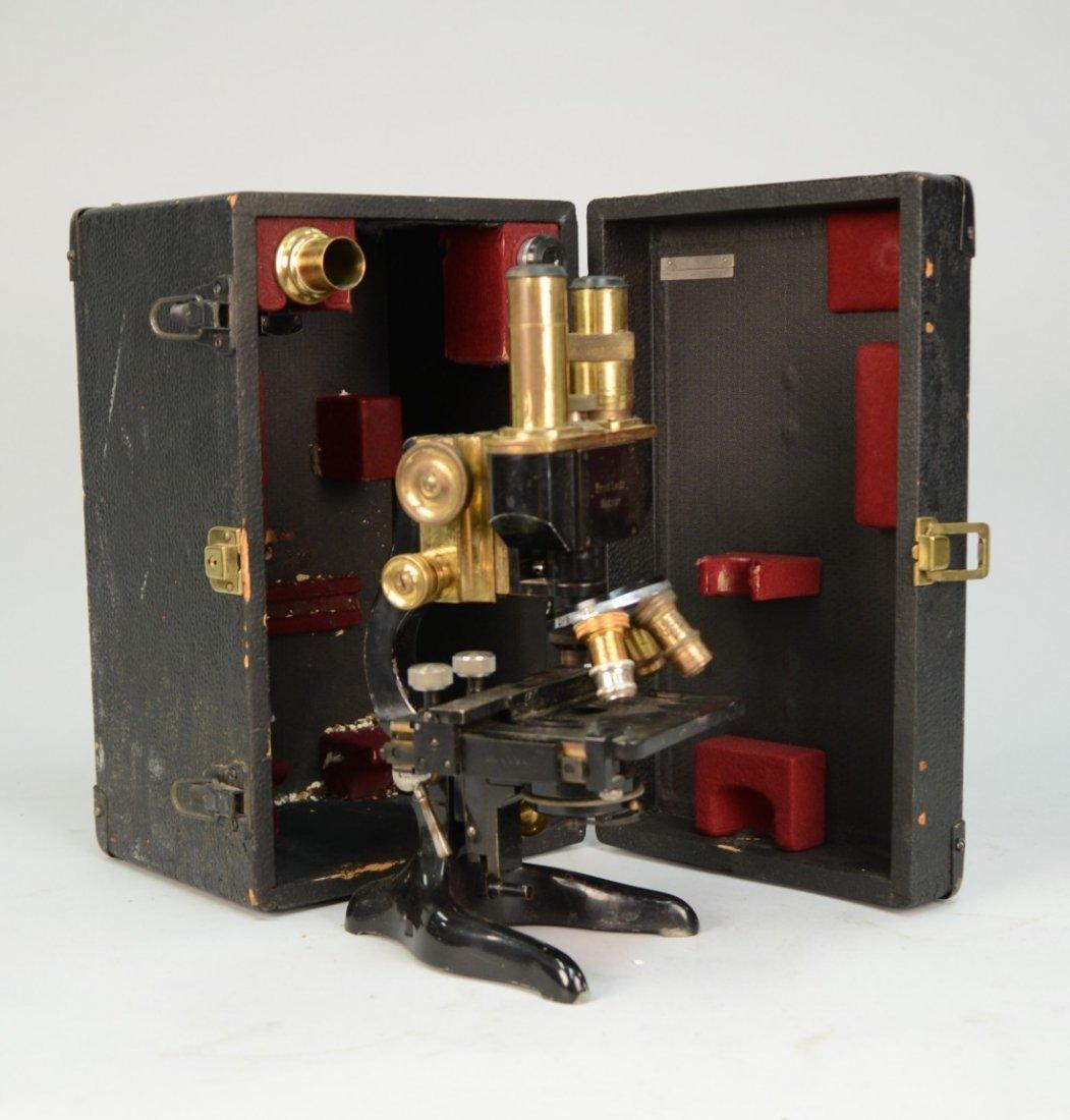 ERNST LEITZ WETZLAR BINOCULAR MICROSCOPE, in fitted box