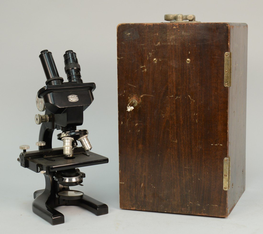 SPENCER MICROSCOPE, Buffalo, N.Y.; in  a fitted box mar
