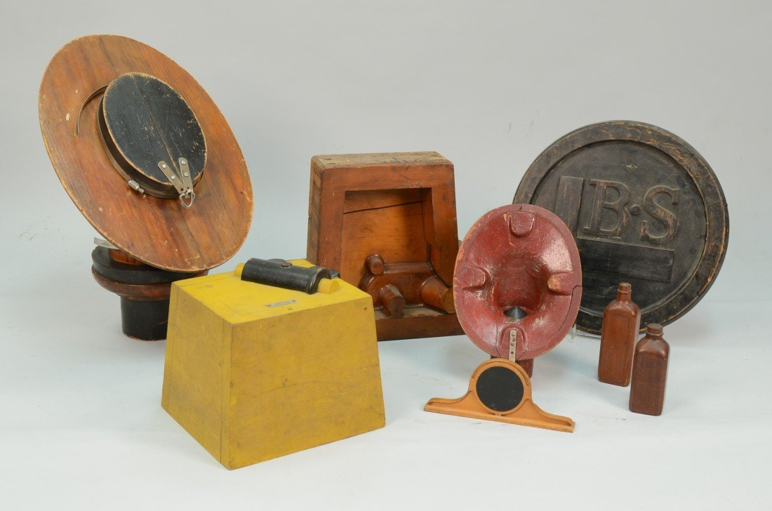 COLLECTION OF WOODEN AND OTHER FORMS