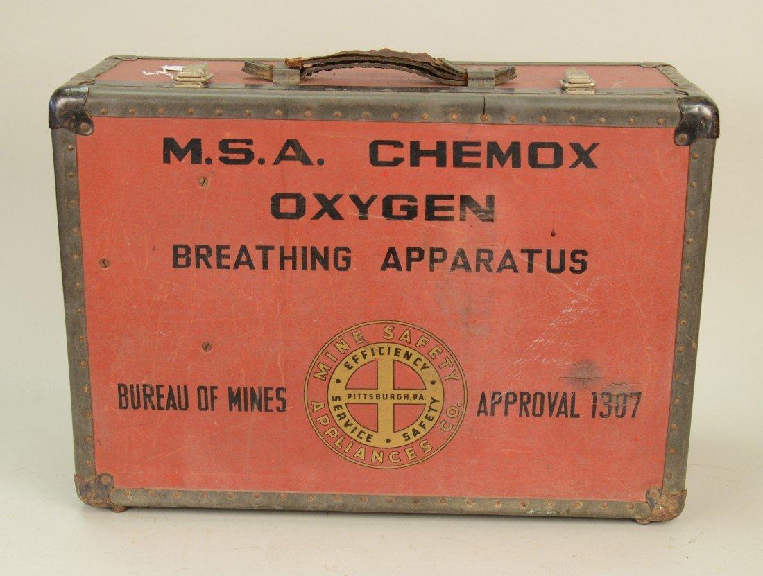 M.s.a. CHEMOX OXYGEN BREATHING APPARATUS, Bureau of Min - 2