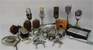 BOX LOT OF MICROPHONES