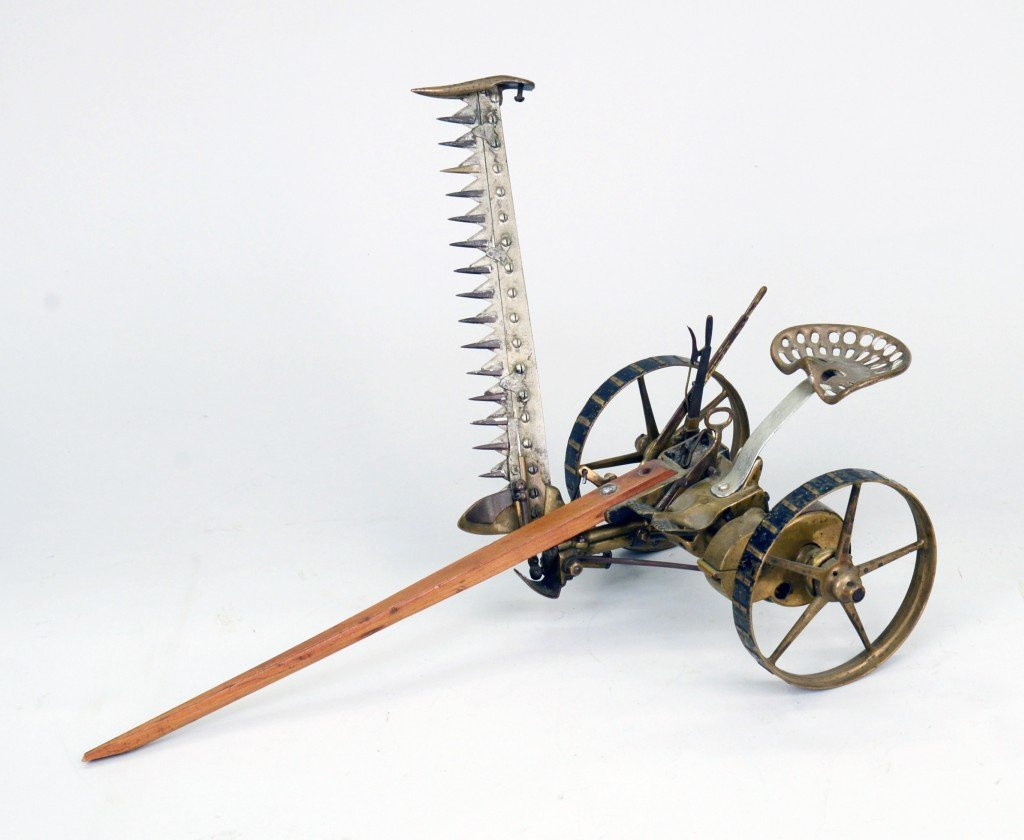 PATENT MODEL MOWER, length: 17 1/2 inches