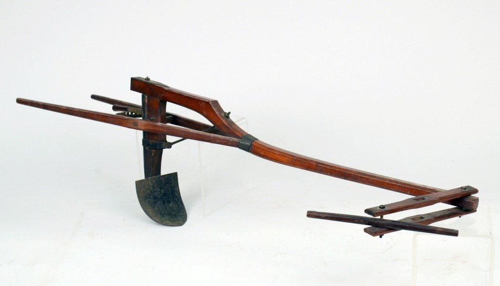 PATENT MODEL PLOW, length: 27 inches