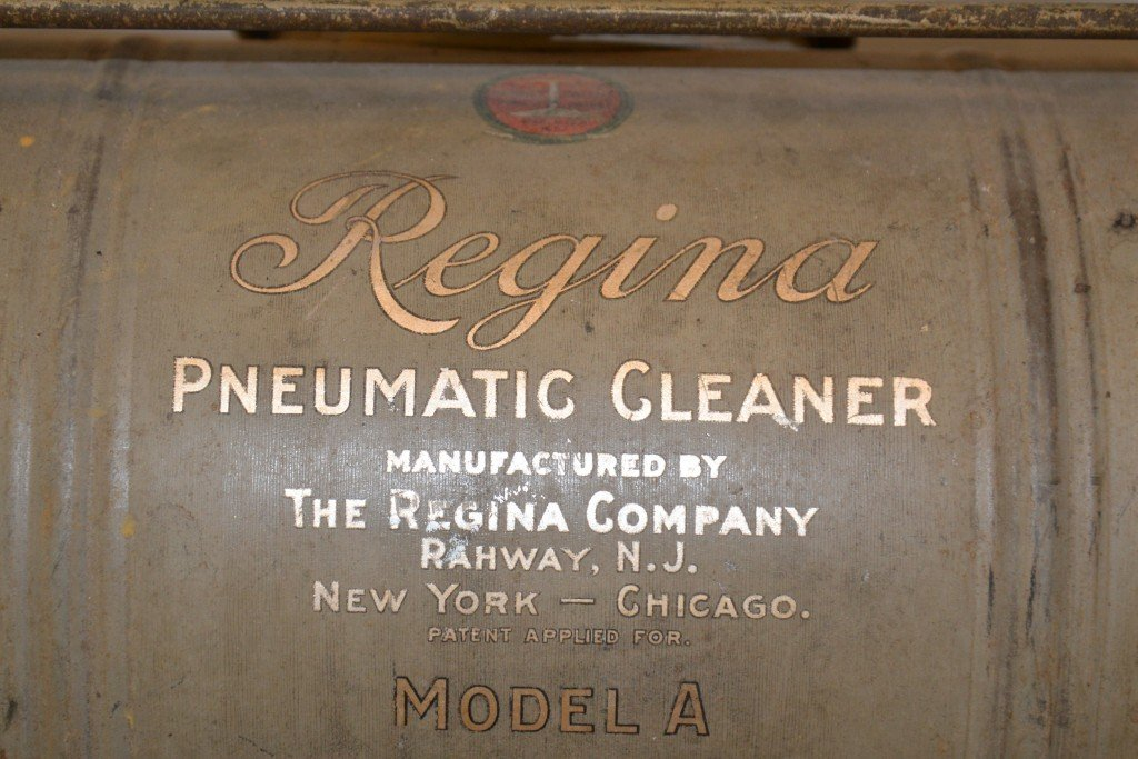 EARLY REGINA MODEL A PNEUMATIC VACUUM CLEANER; together - 2