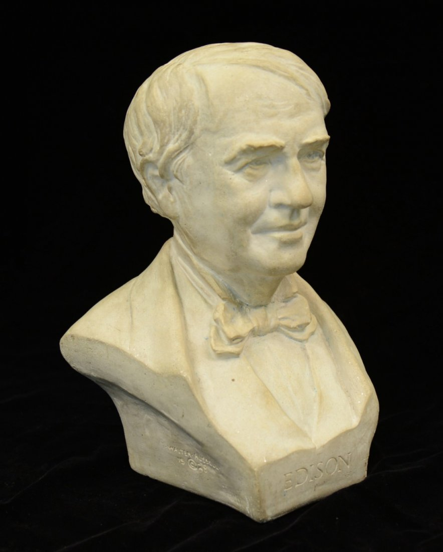 WALTER RUSSELL, (American, 1871-1963), BUST OF THOMAS E