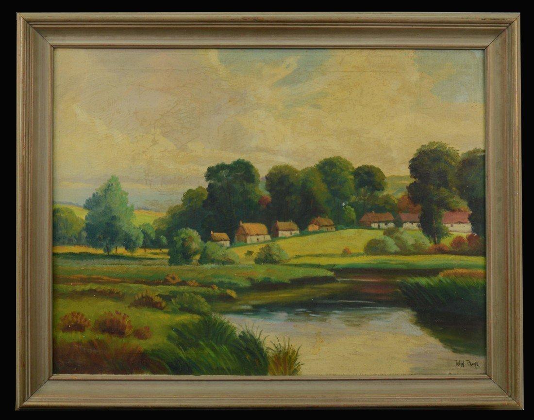 JOHN PAINE, (American, 20th century), RIVER LANDSCAPE W