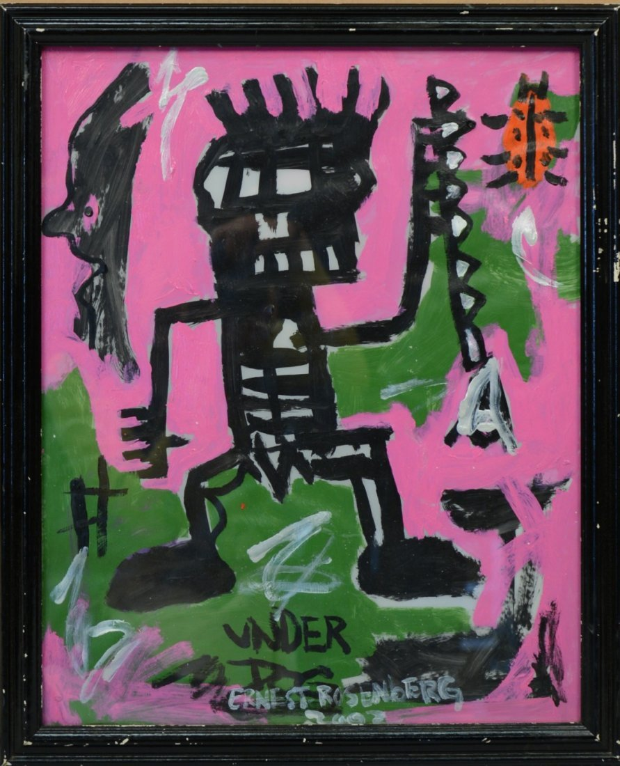 ERNEST ROSENBERG, (American, b. 1975), UNDER DOG, oil o