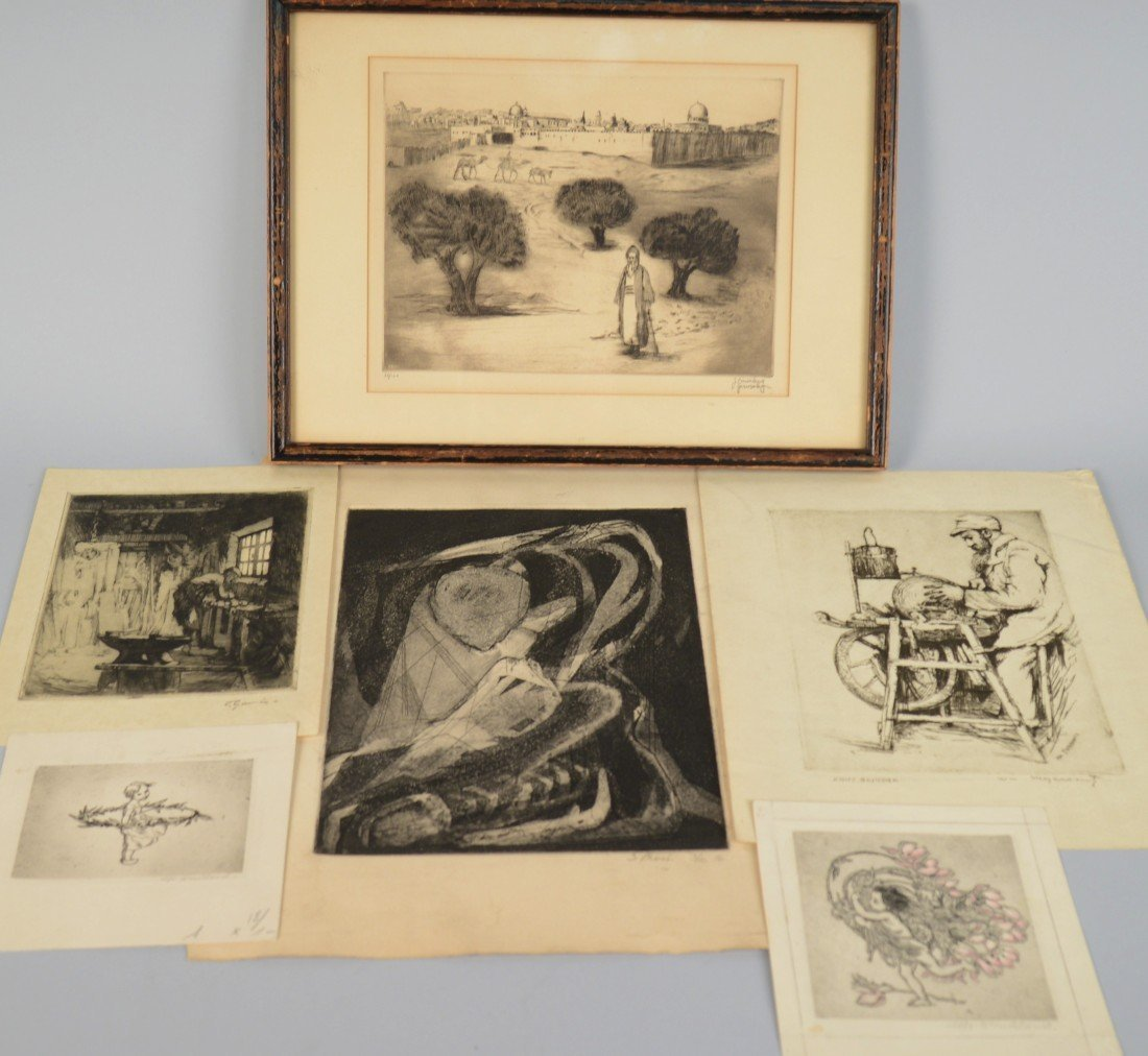 COLLECTION OF ETCHINGS, including a Sabina Klein etchin