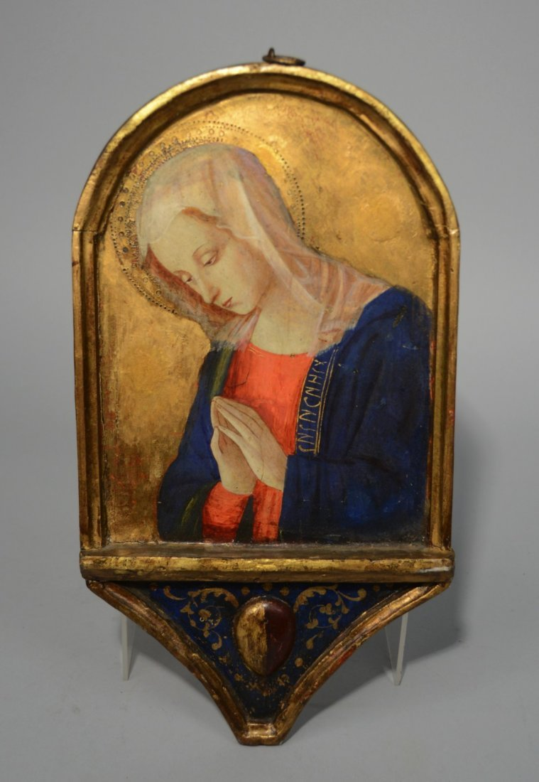 ITALIAN SCHOOL, RENAISSANCE STYLE MADONNA AT PRAYER