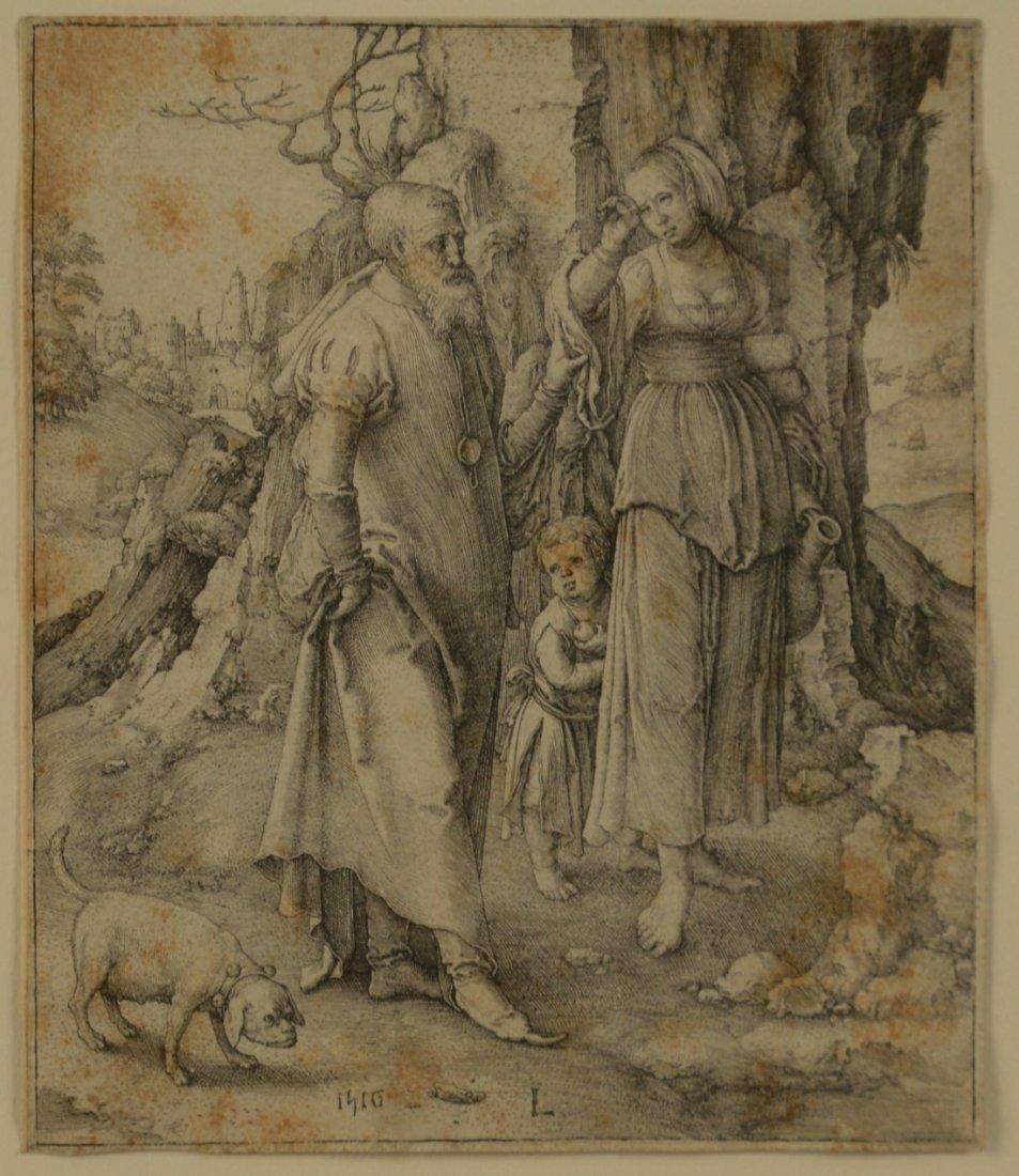 LUCAS VAN LEYDEN, (Dutch, 1494-1533), ABRAHAM DISMISSIN