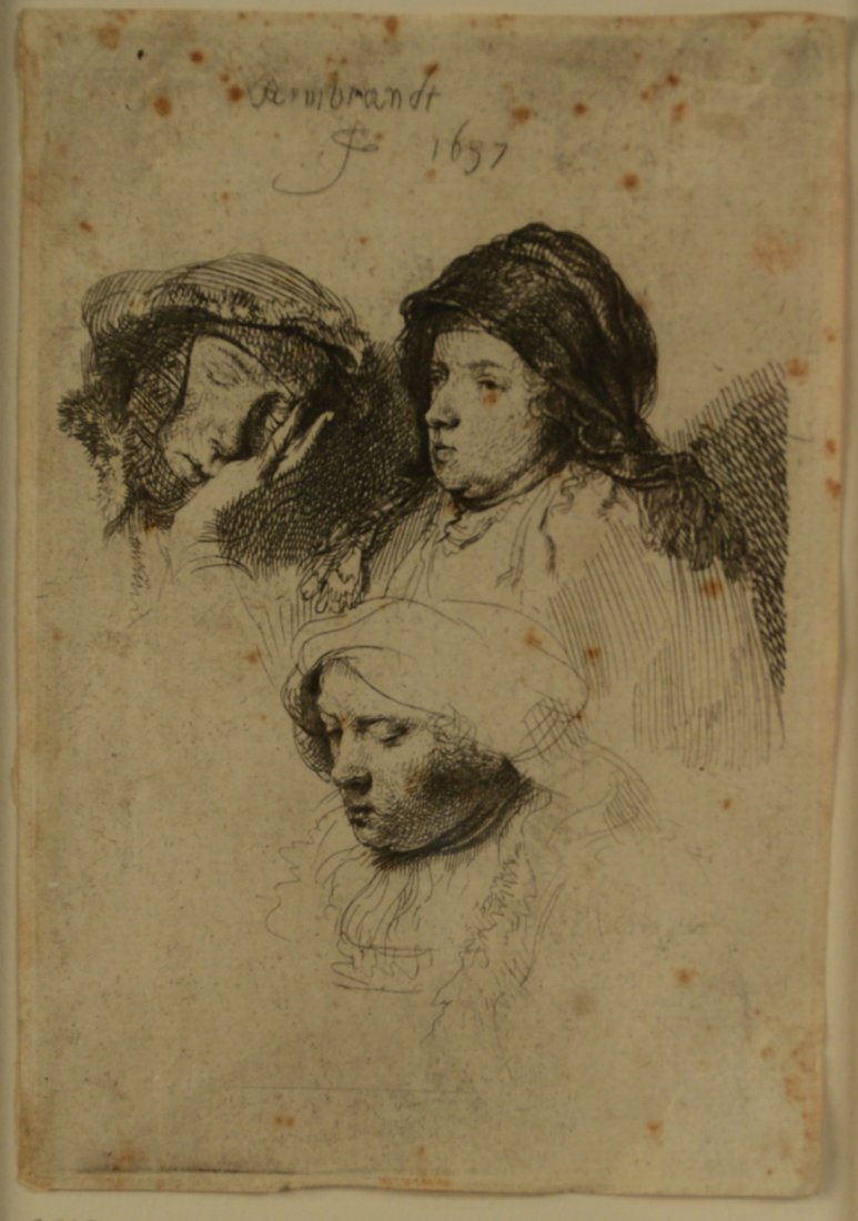 REMBRANDT VAN RIJN, (Dutch, 1606-1669), THREE HEADS