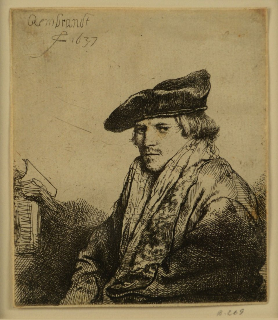 REMBRANDT VAN RIJN, (Dutch, 1606-1669), YOUNG MAN IN VE