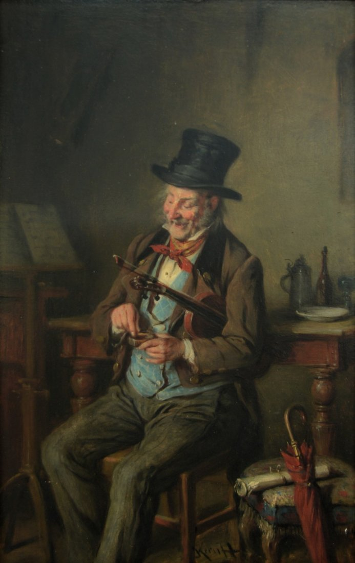 CONTINENTAL SCHOOL , (19th century), HAPPY VIOLINIST