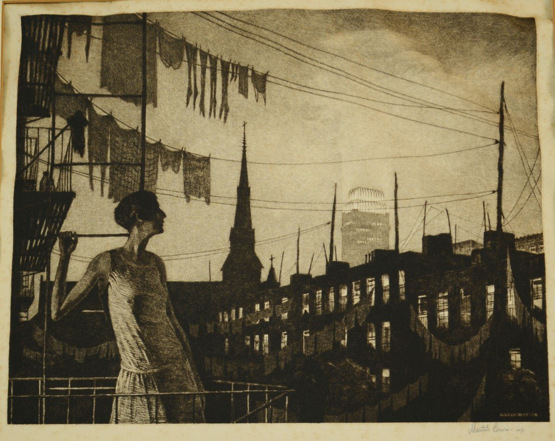 MARTIN LEWIS, (American, 1881-1962), GLOW OF THE CITY,